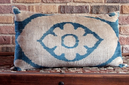 Picture of Silk Ikat Pillow Cover -  Uzbek Cushion Cover