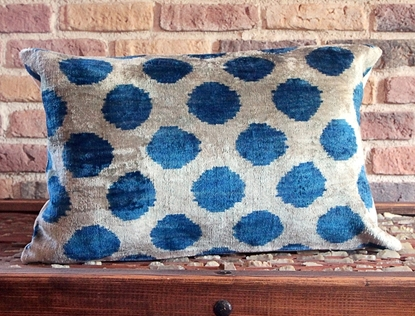 Picture of Circled Design - Silk Ikat Pillow Cover