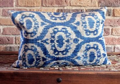 Picture of Decorative  Silk Ikat Velvet Pillow Cover