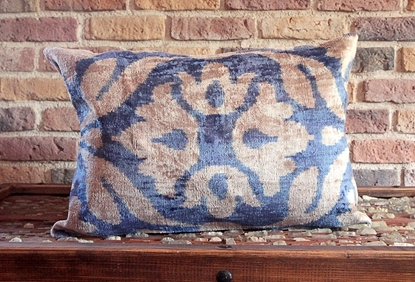 Picture of Uzbek Silk Ikat Pillow Cover