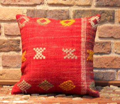 Vintage Kilim Pillow Cover - Semi old Turkish Kilim Pillow