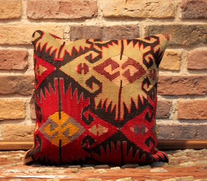 Semi old Vintage Turkish Kilim Pillow Cover - ernemet.com