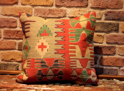 Picture of Turkish Kilim Pillow - Decorative Old Kilim Pillow