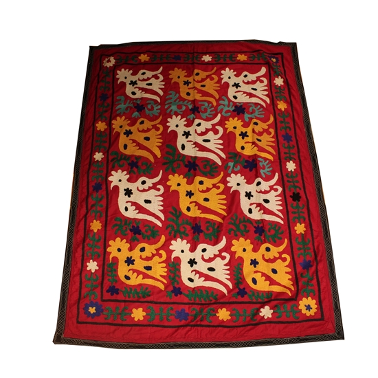 Beau Picture Of SUZANI TABLECLOTH