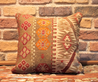 Hand Woven Turkish Kilim Pillow Cover - Ernemet.com